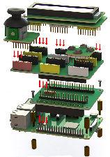 Raspberry Pi Stacking attachment board design