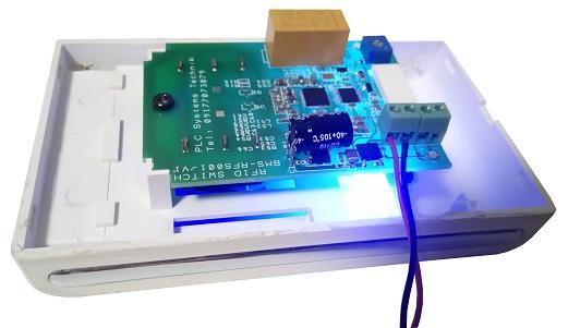 Custom RFID reader circuit for hotel card key