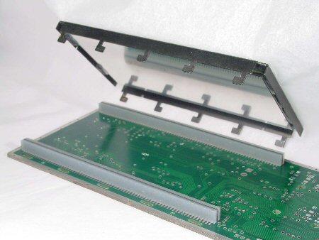 Rubber Strips on LCD panel module, Elastomeric strips
