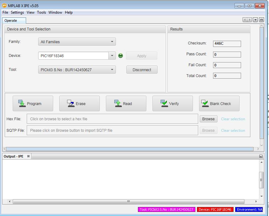 IPE programmer tool detected