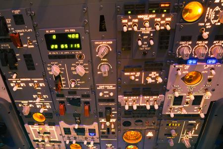 Flight simulator cockpit control panel