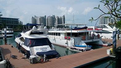 yacht repair at Sentosa Cove