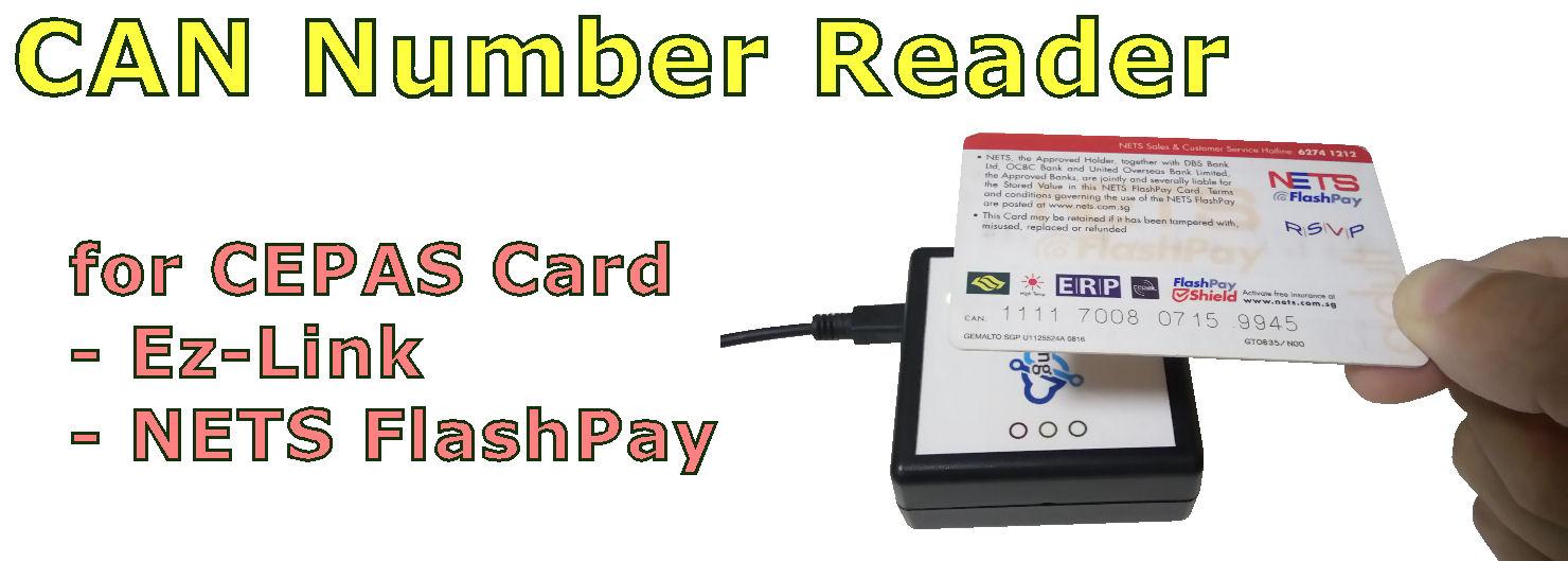 CEPAS CAN number reader (EZ-Link, NETS FlashPay)