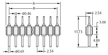 turn pin dimension (male)